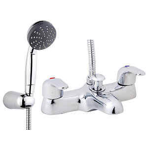 iflo Barcelona Bath Shower Mixer Tap Brass