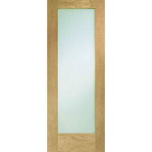 Hardwood Oak Shaker Pattern 10 Internal Door with Obscure Glass