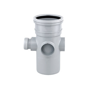 OsmaSoil 4S589G Single Socket Bossed Pipe Grey 110mm