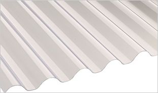 Clear PVCu corrugated roofing sheets
