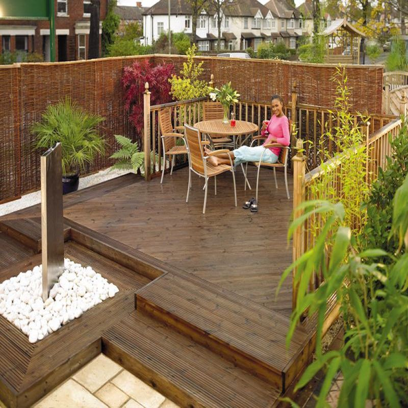 Decking garden timber composite boards