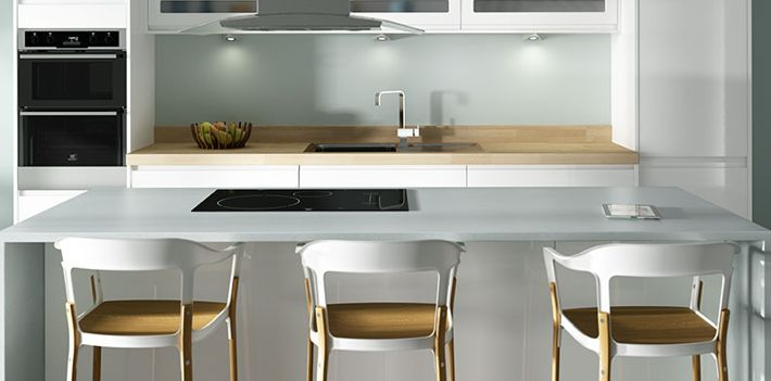 X  X  White Kitchen Cabinet