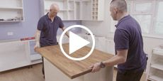 Video guide showing how to build a kitchen Island