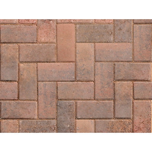 BRINDLE TEGULAR BLOCK PAVING TWO SIZE