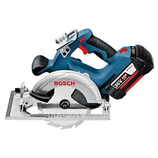 bosch gks 18 v li 18v 165mm circular saw body only travis perkins. Black Bedroom Furniture Sets. Home Design Ideas