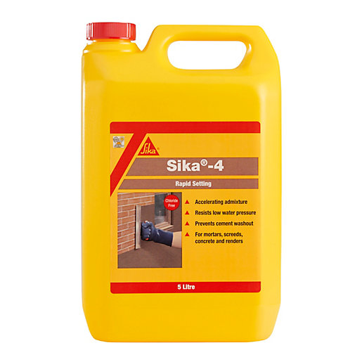 Sika 4 Rapid Setting Liquid Admixture 5L