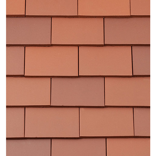 Redland rosemary plain clay roofing tiles red 650180 for Clay tile roofs