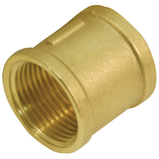 Brass socket in with british standard pipe threads