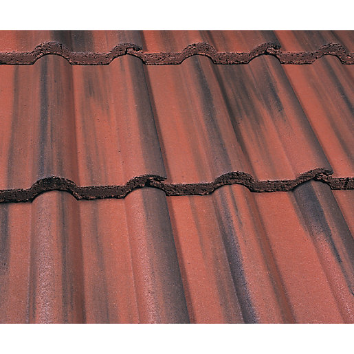 Marley Double Roman Roofing Tile Old English Dark Red