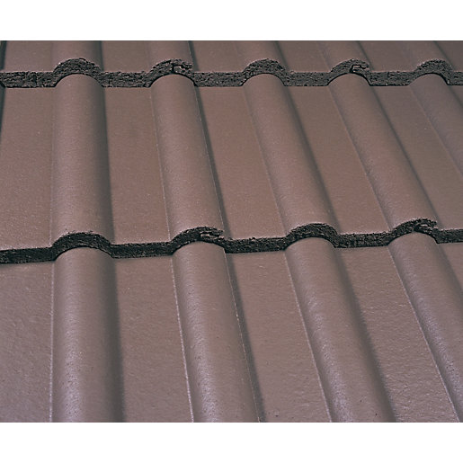 Marley Double Roman Roofing Tile Smooth Brown Travis Perkins