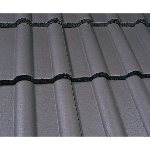 Marley Double Roman Roofing Tile Smooth Grey Travis Perkins