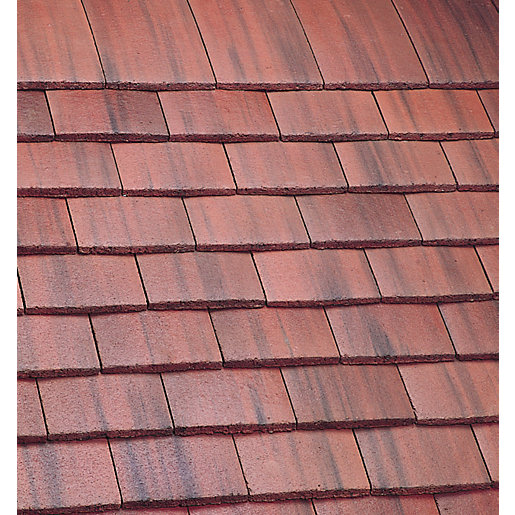 Marley Plain Roofing Tile Old English Dark Red Travis