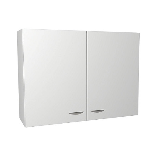 Dakota Kitchen Wall Unit White 1000mm Travis Perkins