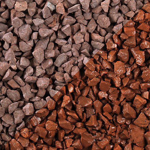 Bulk Decorative Stones : Red stone bulk bag travis perkins