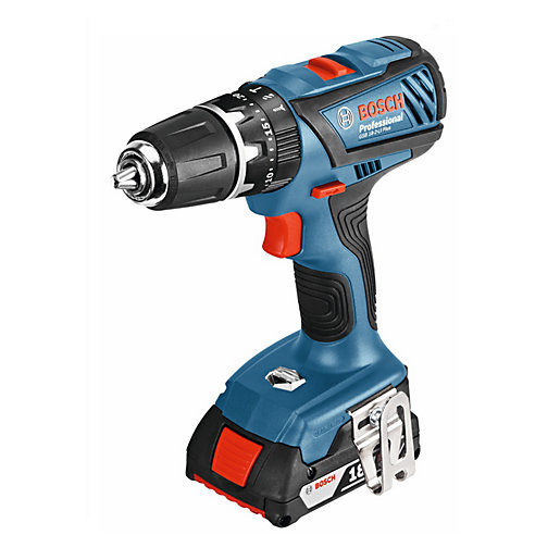 bosch gsb 18 2 li plus 18v cordless hammer drill 06019e7170 travis perkins. Black Bedroom Furniture Sets. Home Design Ideas