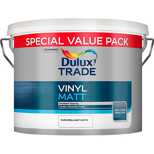 Dulux Pure Brilliant White Matt Emulsion Paint  L