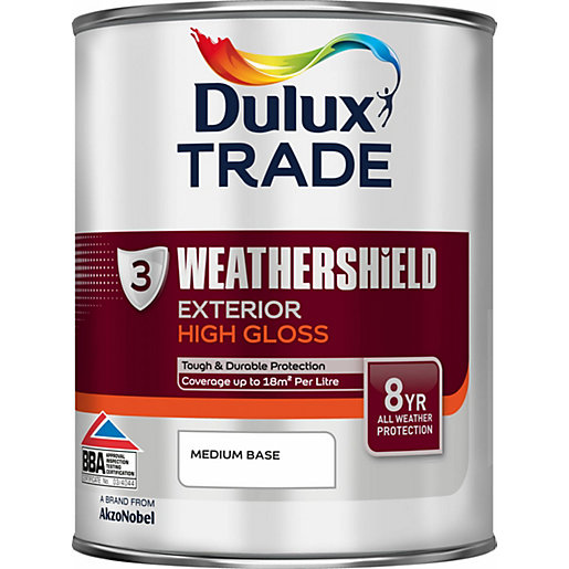 Dulux Paint Colour Dimensions Weathershield Exterior Gloss Medium 1l Travis Perkins