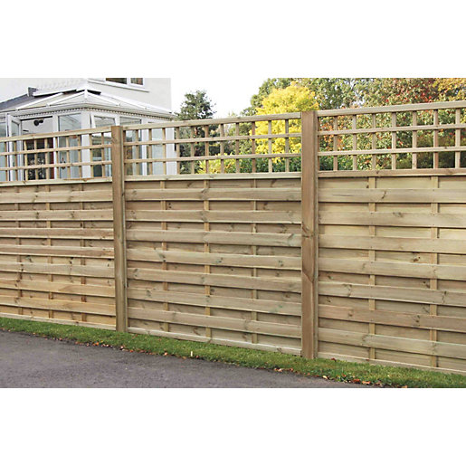 europa montreal pressure treated fence panel 1800mm x. Black Bedroom Furniture Sets. Home Design Ideas