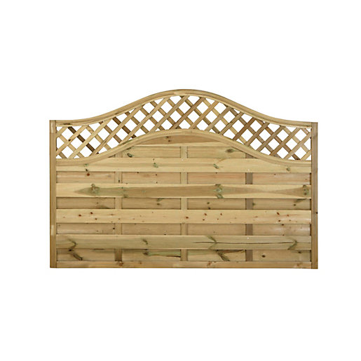 Europa Prague Pressure Treated Fence Panel 1800mm X 1200mm