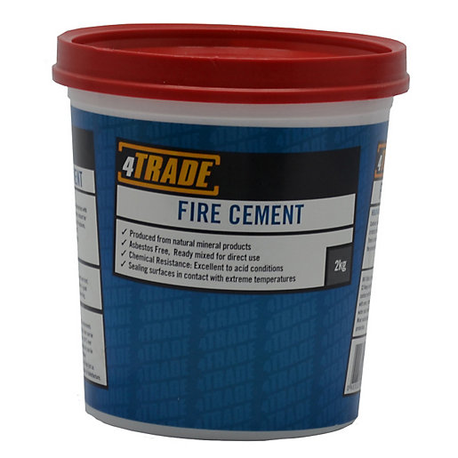 Fire Rated Mortar : Trade ready mixed fire cement neutral colour kg travis