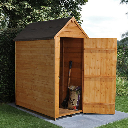 Garden Sheds 3x5 overlap dip treated 3x5 apex shed no windows | travis perkins