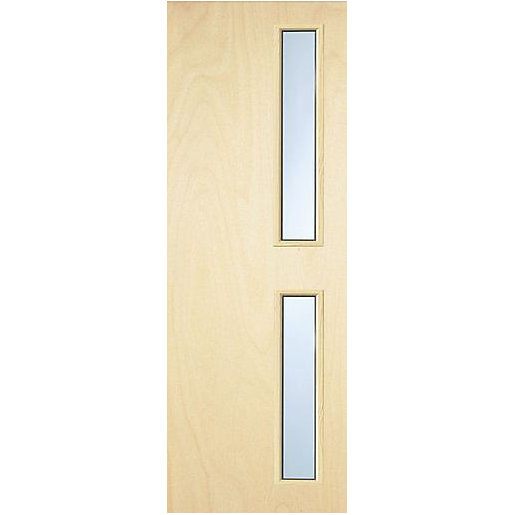 Interior Flush Plywood Fd30 Fire Door With 16g Georgian Wired Safety