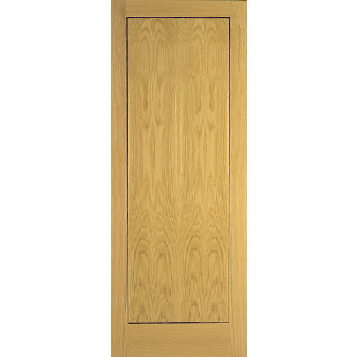 Internal Flush Oak Veneer 1 Panel FD30 Fire Door  sc 1 st  Travis Perkins & Interior Flush Doors | Internal Doors Wooden Interior Doors ... pezcame.com