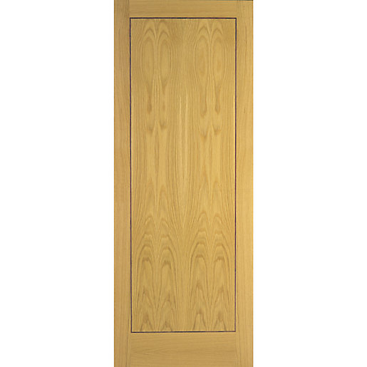 Flush Oak Veneer 1 Panel Internal Door Travis Perkins
