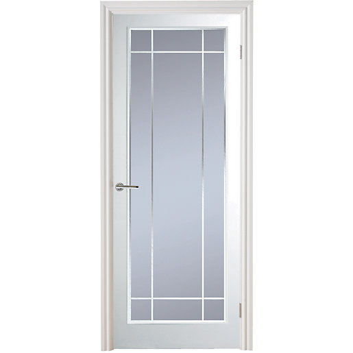 Moulded manhattan 10 light arch top textured white leaded for 10 light door