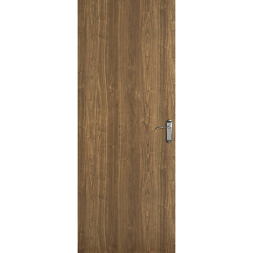 Internal Flush Walnut Veneer Fd30 Door 2040mm X 726mm X 44mm Travis Perkins