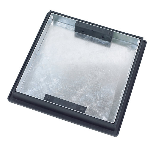 Clark Manhole Cover & Frame 300mm x 300mm x 5T Sealed Recessed Tray ...
