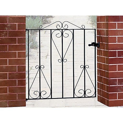 Burbage cs classic scroll metal garden gate fits mm