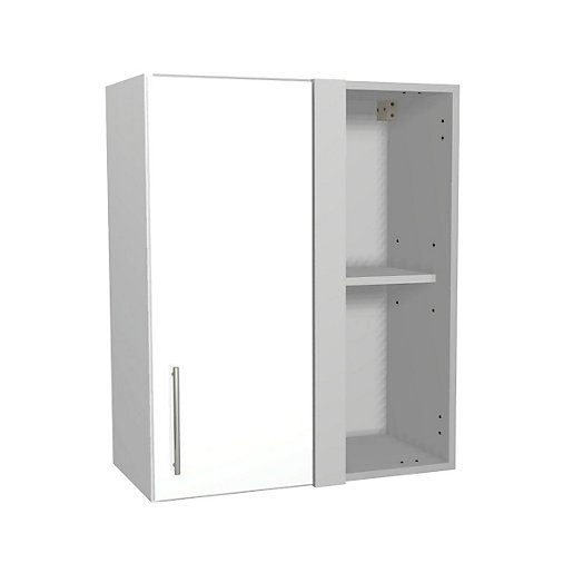 orlando white gloss kitchen corner wall unit 600mm