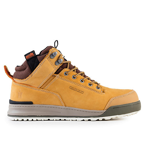 Scruffs Switchback Safety Hiker Boots Tan Size 8 T51447