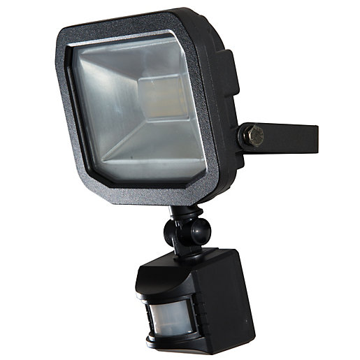 Security outside lighting electrical supplies online electrical luceco guardian slimline 10w led floodlight warm white aloadofball Image collections