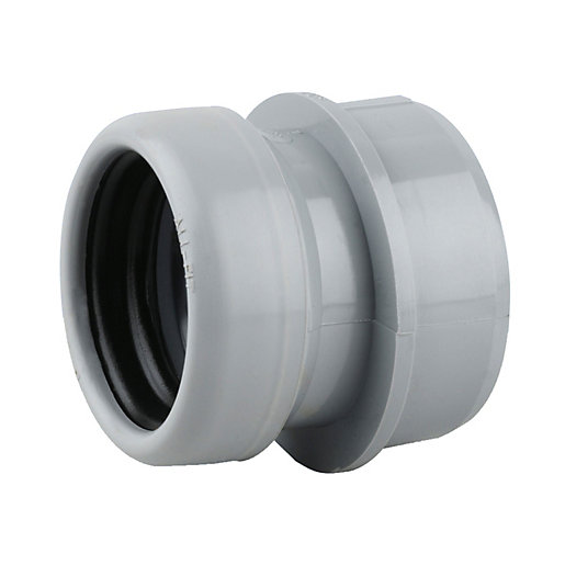 Osmasoil 2s399g 40mm ring seal boss adaptor grey travis for 90mm soil pipe fittings