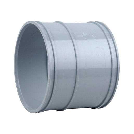 Osmasoil 4s104g 110mm solvent weld double socket grey for 90mm soil pipe fittings