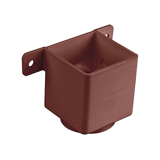 Osma Squareline 4t823 Pipe Connector And Bracket 61mm