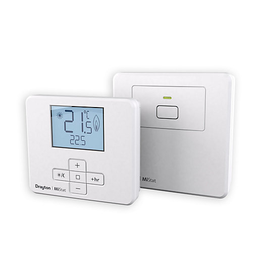 drayton mistat mn110r9k09sx wireless room thermostat and. Black Bedroom Furniture Sets. Home Design Ideas