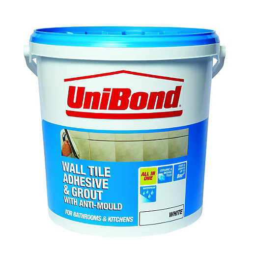 Unibond All Purpose Wall Tile Adhesive Amp Grout White 10l