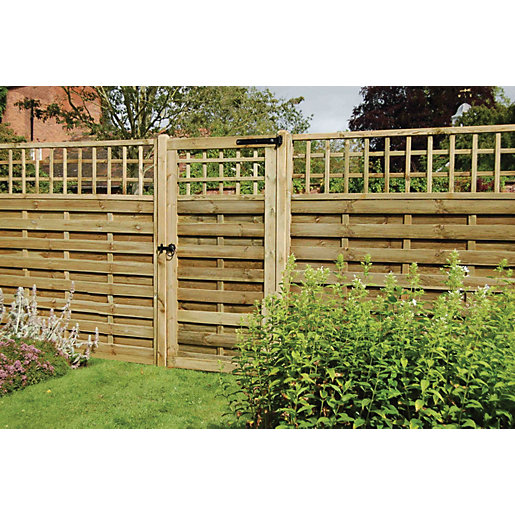 Timber Gate Wootton Pressure Treated Timber Gate 1800mm X