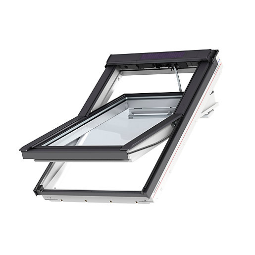velux integra electric roof window 1340mm x 1400mm white painted ggl uk08 206021u travis perkins. Black Bedroom Furniture Sets. Home Design Ideas