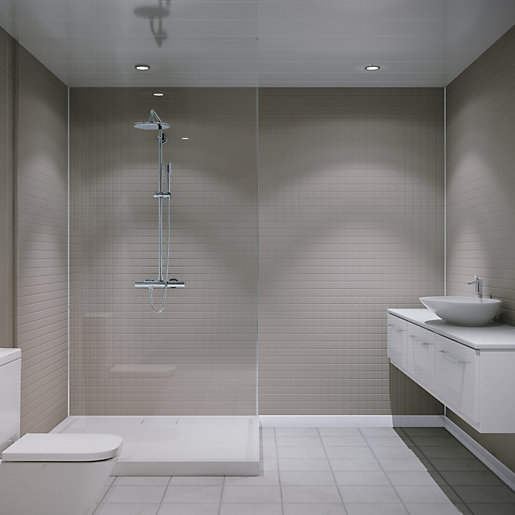 travis perkins bathroom tiles multipanel embossed large matt tile white galaxy 2440mm x 21034