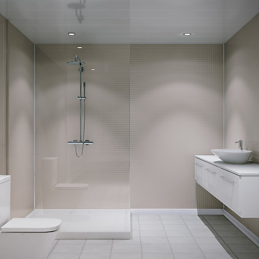 travis perkins bathroom tiles multipanel embossed small gloss wall tile white slate 21034