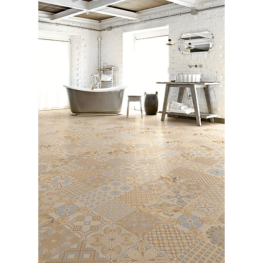 travis perkins bathroom tiles vives noveau wall and floor tile tassel crema ceramic 21034