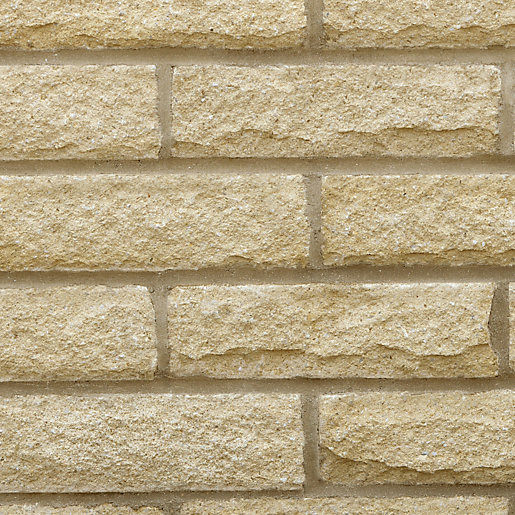 Stone Face Block : Marshalls pitched walling buff mm
