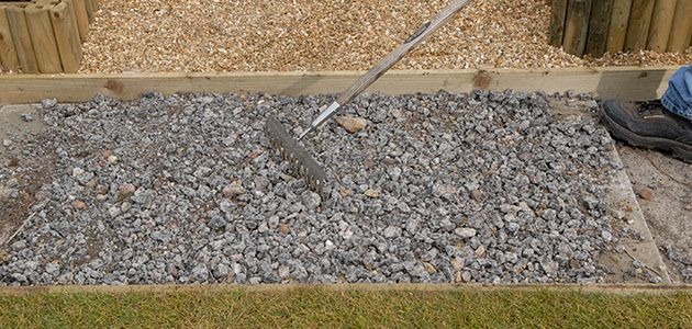 How to lay a garden path for Garden decking and slabs