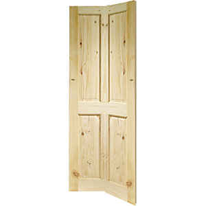 35mm Internal knotty pine 4 panel bi-fold. Imperial 6'6