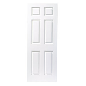 44mm Internal Moulded 6 panel grain Fire door. Metric 2040mm