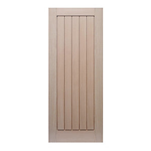44mm Internal oak Suffolk Fire door. Imperial 6'6